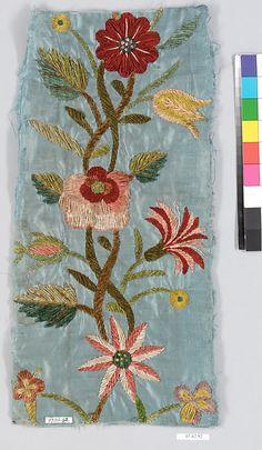 Fragment Date: 18th century Culture: Spanish Medium: Chenille on silk