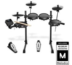 Alesis Drums Turbo Mesh Kit – Seven Piece Mesh Electric Drum Set With Sounds, 30 Play-Along Tracks, Drum Sticks & Connection Cables included: Musical Instruments E Drum Set, Electric Drum Set, Drum Key, Electronic Kits, Drum Heads, Thing 1, Snare Drum, Musical Instruments, Drums