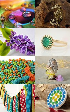 My seahorse was included in this beautiful, colorful treasury: Bright Colors! by Polina Vadeika on Etsy--Pinned with TreasuryPin.com