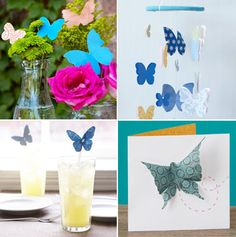 Download template and Print to make these Beautiful paper Butterlies.. I Love Butterflies. :)