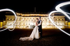 Light sculpting wedding photo - from Elemental Weddings Photography UK
