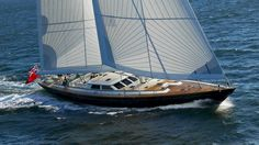 The 119-foot sloop Whisper will be available for charter in New England this summer. If you are interested in getting a taste of the charter experience onboard and want a chance to tour the luxury yacht, find your favorite broker and head to the Newport Charter Yacht Show (June 22-25). #luxurytravel #yachting #sailing #summervacation #luxuryhotel