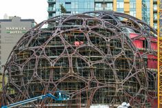 Framing for Amazon Spheres . . . Amazon Block 19 Seattle Washington USA