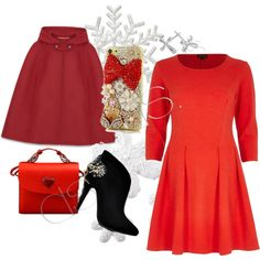 """Christmas Color: RED"" by dsstyles on Polyvore www.Dsstyles.com"