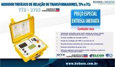 SALE Medidor trifásico de relação de transformadores TPs e TCs TTR - 2795