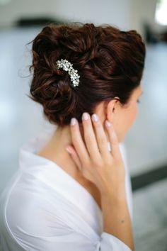 Hochiet Haarschmuck Brautfrisuren lange Haare Ideen