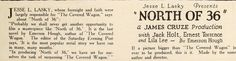 1923: Lila Lee - Exhibitor's Trade Review (Sep 8, 1923).  Advert for 'North of 36' - Lois Wilson appears in the role first ear marked for Lila.