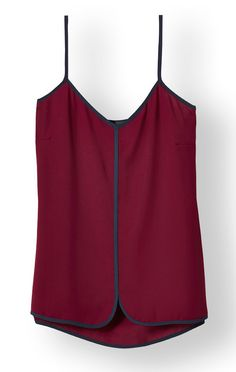 Curved Hem Cami from THELIMITED.com #TheLimited #Layering #Feminine #OfficeChic #Flattering #Polished #FallFashion