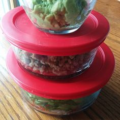 Turkey taco salad to go - instead of takeout I like to make takewith! #instafood #food #cleaneating #eatclean #whole30 #paleolife
