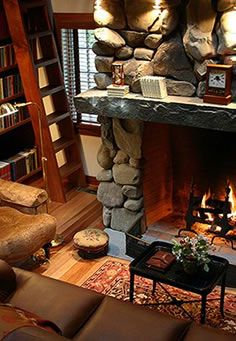 Good books, a toasty fire and a comfortable chair. Who needs Paris?