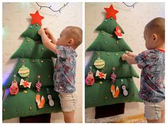 ideas for christmas tree ideas for kids plays Christmas Sewing, Felt Christmas, Handmade Christmas, Christmas Holidays, Christmas Decorations, Christmas Ornaments, Xmas, Felt Crafts, Diy And Crafts