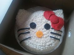 Hello Kitty cake for my niece. June 2012. Cake is purple and pink marble from scratch. Star tipped my buttercream with accents in fondant.