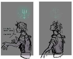 Percy getting claimed. I loved this part, and this drawing is perfect for it!!!
