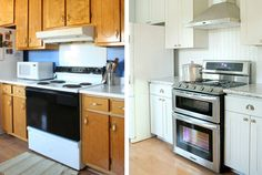 Ist auch Deine Küche reif für einen Tapetenwechsel? Schau Die diese vorher nachher Renovierungen und an und schöpfe die Idee für Dein Projekt.