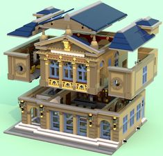 Modular Theatre By AFOL italovergnat - Image Lego Building Blocks, Brick Building, Building Ideas, Lego Village, Lego Creator Sets, Lego Trains, Lego City, Lego Modular, Lego Castle