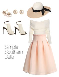 Simple Southern Belle by juliesddownload on Polyvore featuring Chicwish, L.A.M.B., Ippolita, YooLa and Eugenia Kim