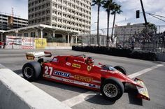 Canadian Grand Prix - 1981 - Villeneuve in action at the 1981 US Grand Prix West at Long Beach