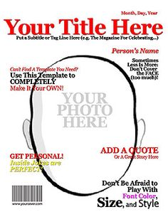 Make Your Own Magazine Cover - Superhero Party?