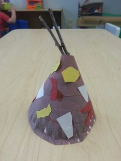 Teepees painted and decorated with construction paper. My 1 year olds loved it!