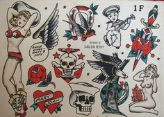 Old school tattoos, images and fans. Submit your old school/traditional tattoo photos and images! Traditional Sailor Tattoos, Traditional Tattoo Design, Sailor Jerry Flash, Vintage Mermaid Tattoo, Vintage Tattoos, Sailor Jerry Tattoos, Old School Tattoo Designs, Military Tattoos, Vintage Flash
