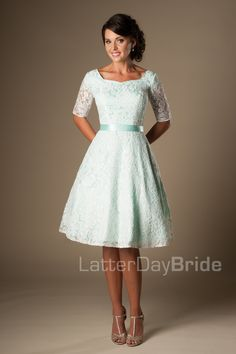 0baa65cb6058 Lovely modest homecoming full lace dress, style Reagan Mint, is part of the  Wedding