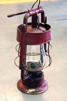 Antique American LaFrance by Dietz Fire Truck/Fire Engine Lantern - Original Red Paint