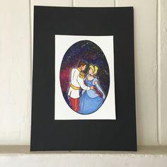Disney's Cinderella Galaxy Watercolour Print