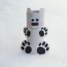 Who doesn't love a good toilet paper roll craft? This precious little polar bear might be my new favorite... | AllFreeKidsCrafts.com
