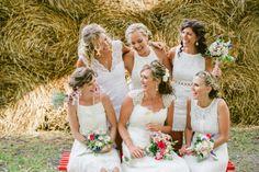 #bridesmaidsInWhite and #brideInIvory, #JulesMorganPhotography