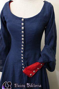 Blue Cotehardie | Faerie Queen Costuming