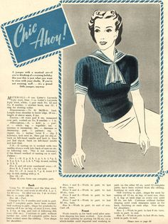 1939 sailor jumper; a must-have for the summer (page 1/2)
