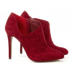 Red Cut-Out Booties.