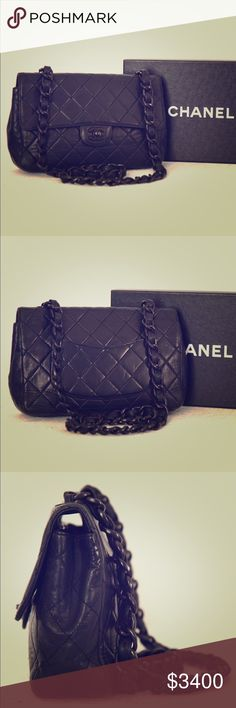 Chanel Bag **** willing to sell for $2700 if went through the cash app, v e n m o , or google wallet. *** This bag is in very good used condition. There are no rips, or tears on the bag. There are a few minor press marks on the back, and minor scuff marks at the bottom corners, but is in overall very good condition PENDING PAYMENT!! CHANEL Bags Shoulder Bags