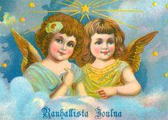 Joulukortti 1900-luvun alkupuolelta. Old Postcards, Christmas, Painting, Vintage, Art, Museums, Xmas, Art Background, Painting Art