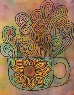 """Mug of Happy by Karirose"" - Great Work! | UtopianCoffee.com"