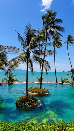 Spend some slothful downtime next to the giant lagoon-style infinity pool. #Thailand