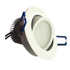 LED-033W-alasvalo on suunnattavissa 27° ja soveltuu erinomaisesti myös vinoihin kattoihin
