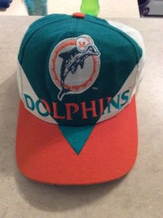 02d2977b56d Miami Dolphins Vintage 1990 s Snapback old Logo Splash Eastport Hat NFL RARE  please retweet
