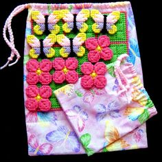 TicTacToe Game Butterflies and Blooms by gailscrafts on Etsy, $7.00