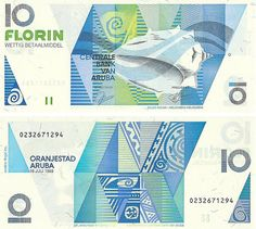 Aruba currency is called the florin, but US dollars are widely accepted as well as major credit cards.  The square shaped yotin is the 50 cent coin.  The florin is known as Awg.  US exchange rate now is 1.75 to 1.80 Awg to one dollar.  Www.visitaruba.com