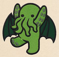 Too Cute Cthulhu | Urban Threads: Unique and Awesome Embroidery Designs || Yo quiero ;-;