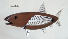 "Mahogany and Polished Metal Bonefish 21"".. Wall Piece..  $300 Pledge"