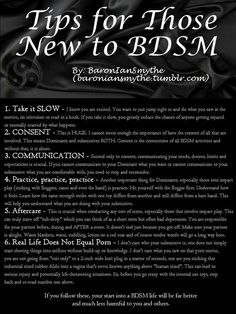 "thesubkitten: ""baroniansmythe: ""Some Helpful Tips for Those New to BDSM Take it SLOW - I know you are excited. You want to just jump right in and do what you saw at the movies, on television or read in a book. If you take it slow, you greatly. Kinky Quotes, Sex Quotes, Daddy Kitten, Submissive Wife, Dom And Subs, Naughty Quotes, Dominatrix, Helpful Hints, Positivity"