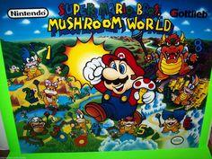 Super Mario Bros Mushroom World Gottlieb 1992 Pinball Machine Translite | eBay