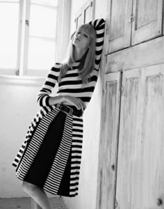 black & white & stripes