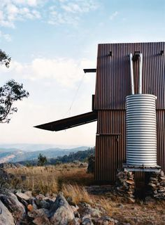 Mudgee, one man's retreat in Australia, a permanent campsite, in western New South Wales, Australia. From Vogue Living May/June 2009. Casey Brown Architecture, photos by Mikkel Vang.