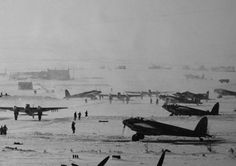 RAF Mosquitoes, taxi out at Banff, Scotland Winter 1944
