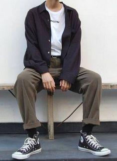 63 Trendy ideas for style vintage retro men Look Fashion, 90s Fashion, Korean Fashion, Trendy Fashion, Fashion Outfits, Fashion Trends, Vintage Fashion Men, Fashion Menswear, Casual Menswear