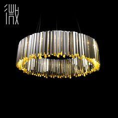 После того, как Micro Art Modern высокого класса моды творческой личности круговой нержавеющей стали столовой люстра дизайнер модели -tmall.com Lynx