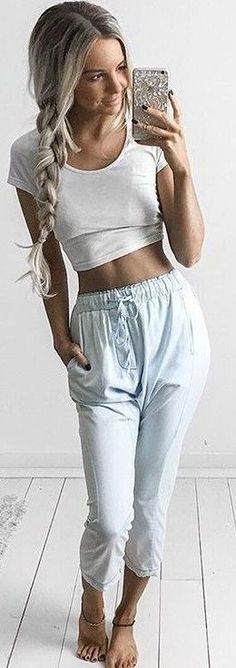 #summer #feminine #outfits | White + Chambray